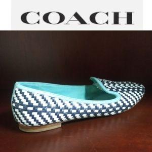 Coach | Catrin Woven Flats Blue